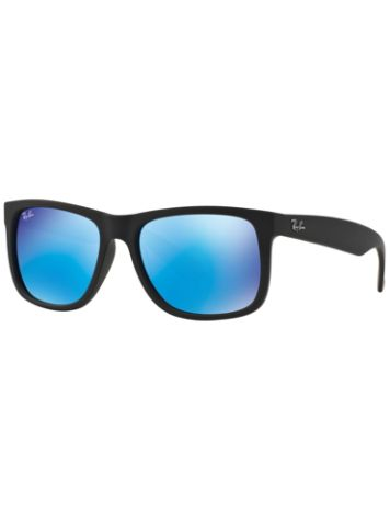 Ray-Ban Justin Black Rubber Mirror