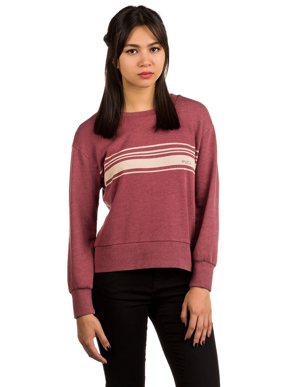 Stripe Set Dolman Crew Sweater