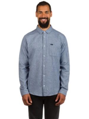 RVCA Curren Static Shirt LS dark denim Gr. S