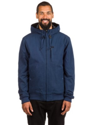 RVCA Hooded Bomber Jacket federal blue Gr. M