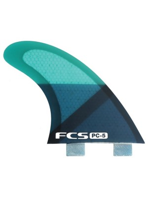 FCS Pc-5 Blue Slice Tri-Quad Retail Fins uni Gr. Uni