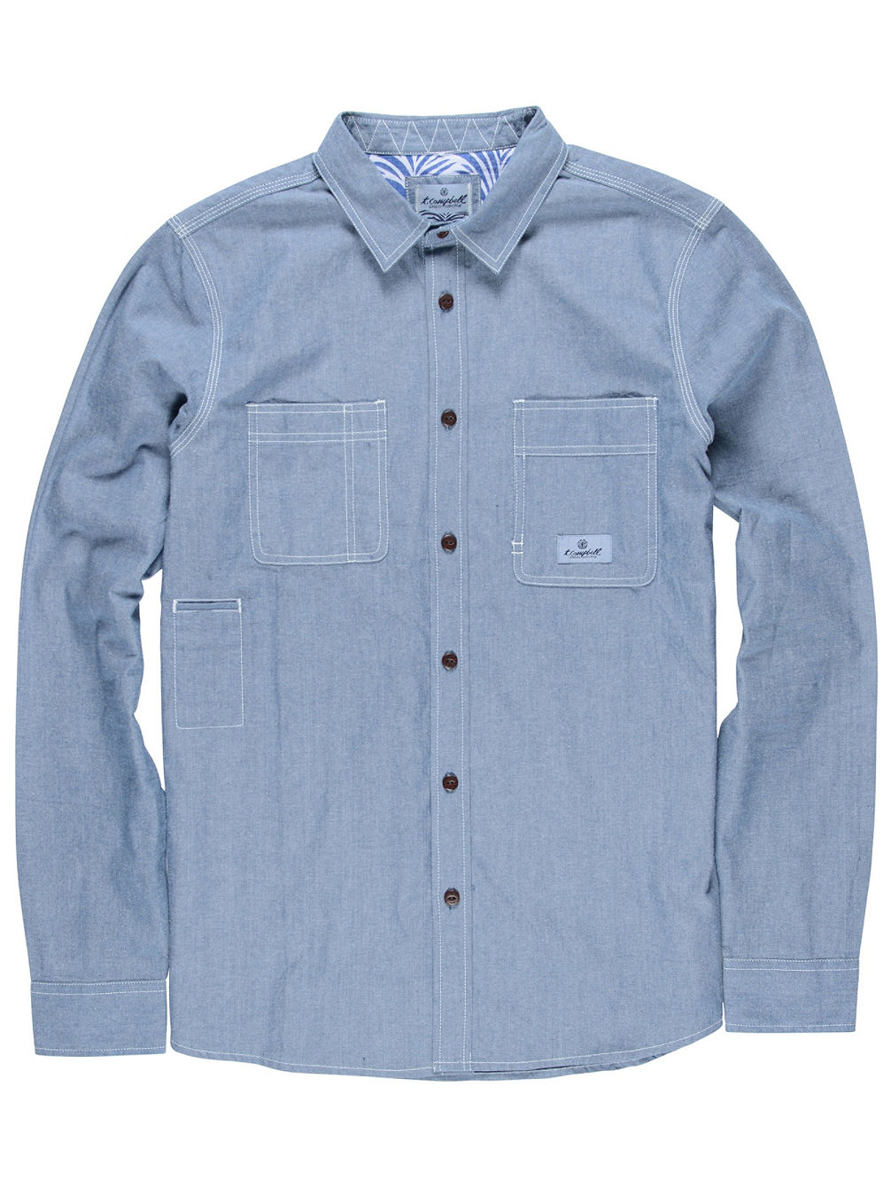 Collage Chambray Shirt LS