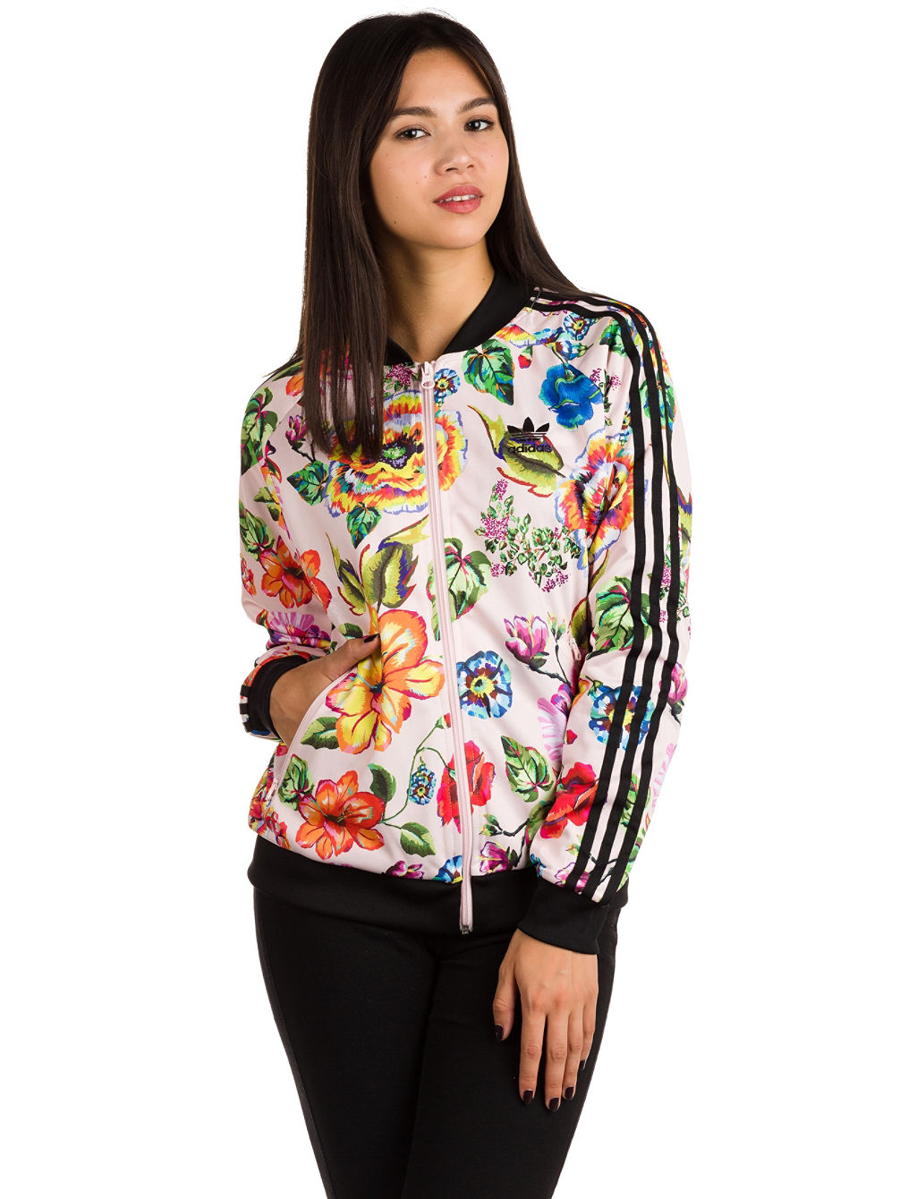 check out 22675 48f32 adidas Originals Floralita SST TT Jacket