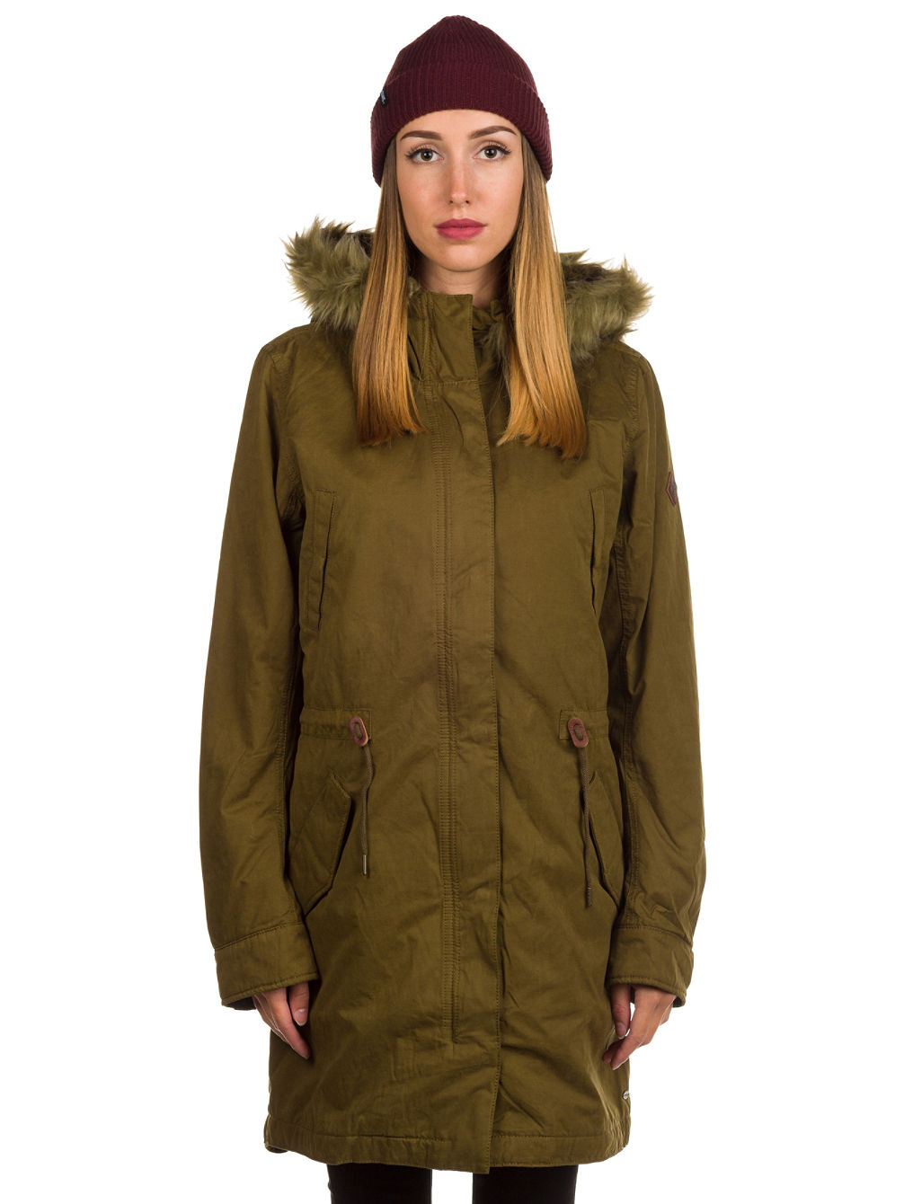 Relaxed Parka Coat