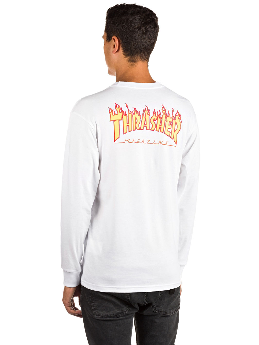 X Thrasher Checker T-Shirt LS