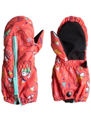 Roxy Snow'S Up Mittens Girls neon grapefruit_foxes Gr. S