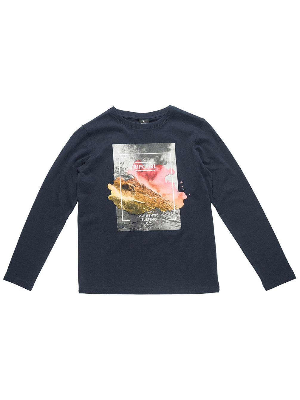 Satured Action Print T-Shirt LS Boys