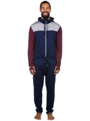 Mons Royale Merino The Monsie One Piece Tech Suit burgundy / grey marl / navy Gr