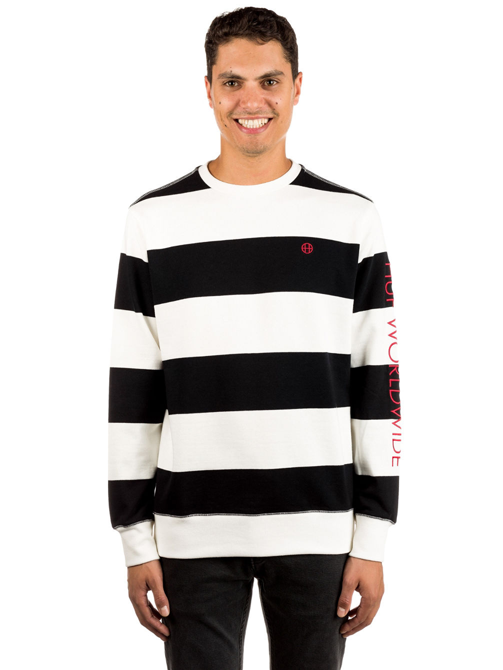 Catalina Stripe Crew Fleece Sweater