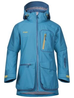 Bergans Knyken Insulated Jacket Girls glacier / steelblue / yellowg Gr. 140