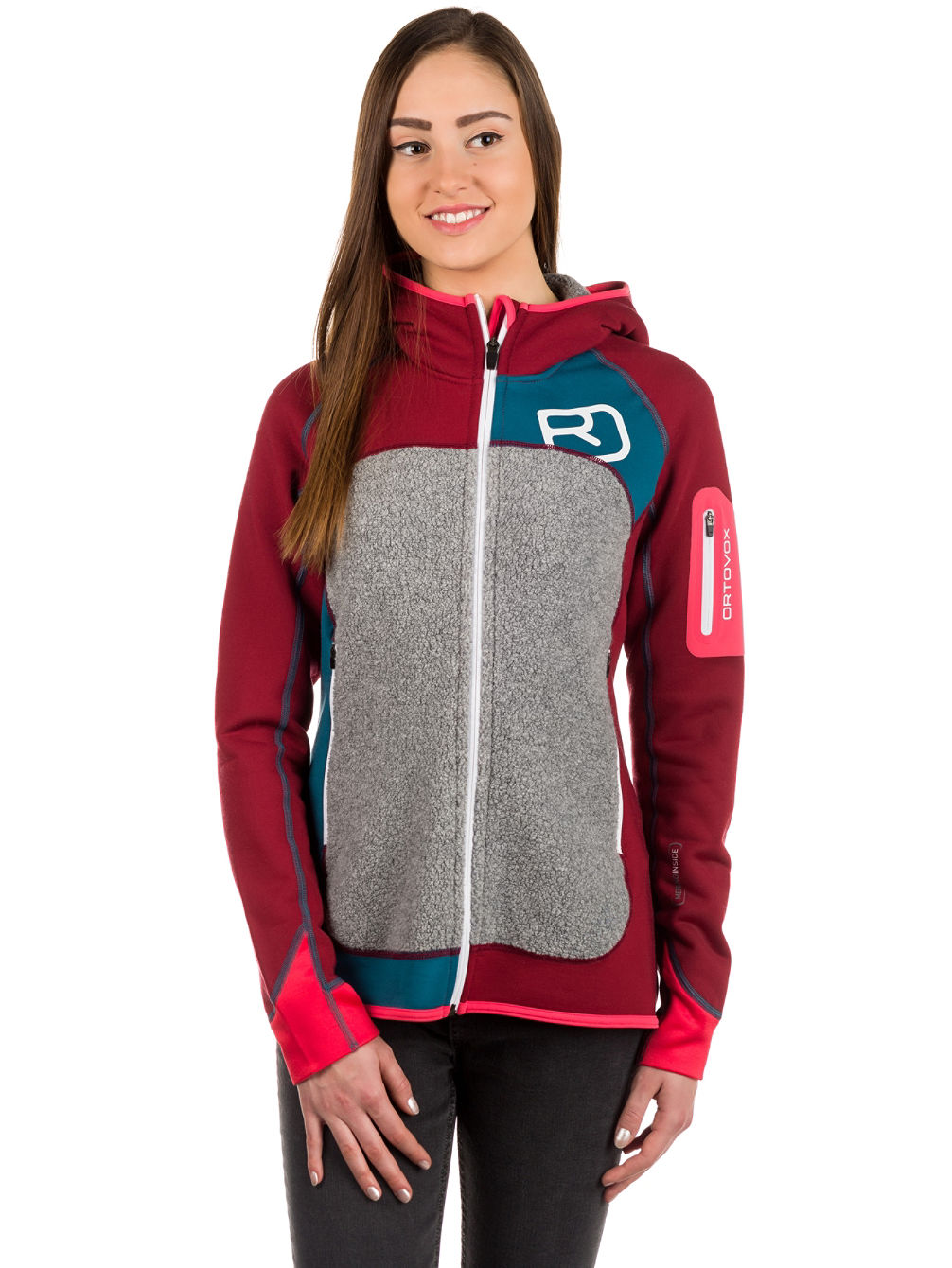 Plus Hooded Fleece Jacket