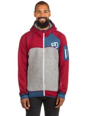 Ortovox Plus Hooded Fleece Jacket dark blood Gr. XL