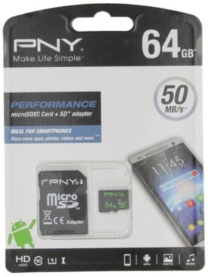 64GB Micro-SD Performance 50Mb-s Descuento PNY - Complementos para Hombre TKXNQTZ