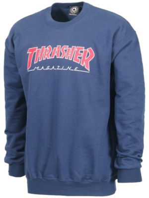 Kopen Online Outlined Sweater Blue Thrasher Bij qH7wSndSEx