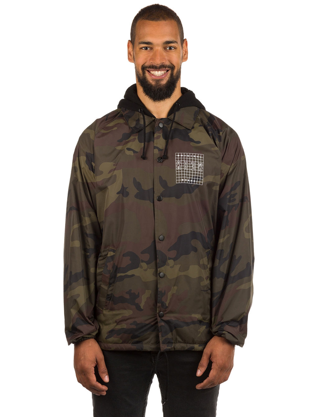 Locker Grid Hood Coaches Jacket