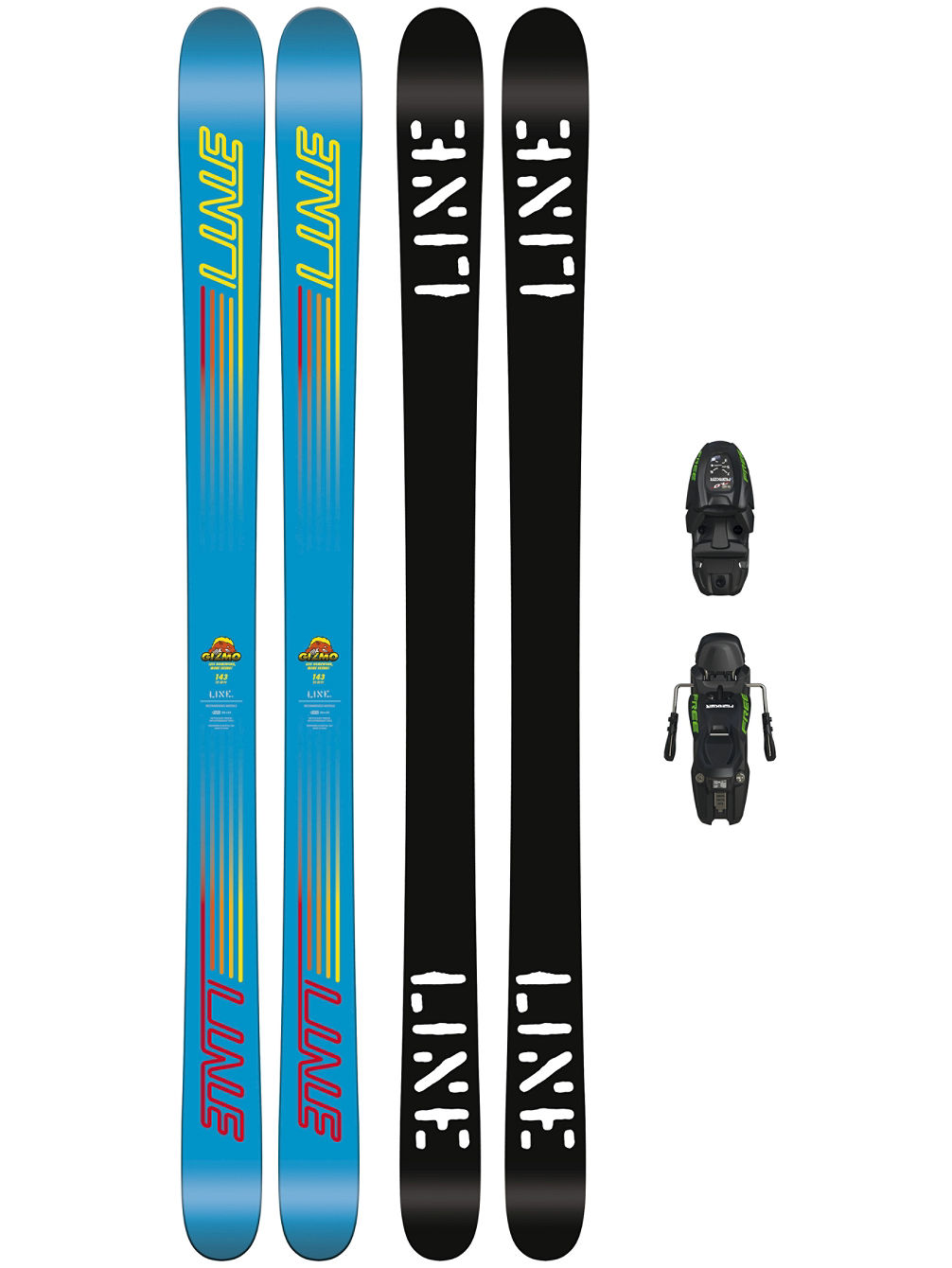 Gizmo 133 + M7.0 Free 85mm 2018 Youth Conjunto freeski