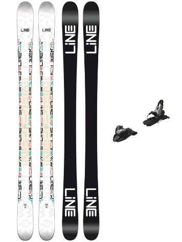 Line Honey Bee 166 + Free Ten 100mm black 2018 Freeski-Set