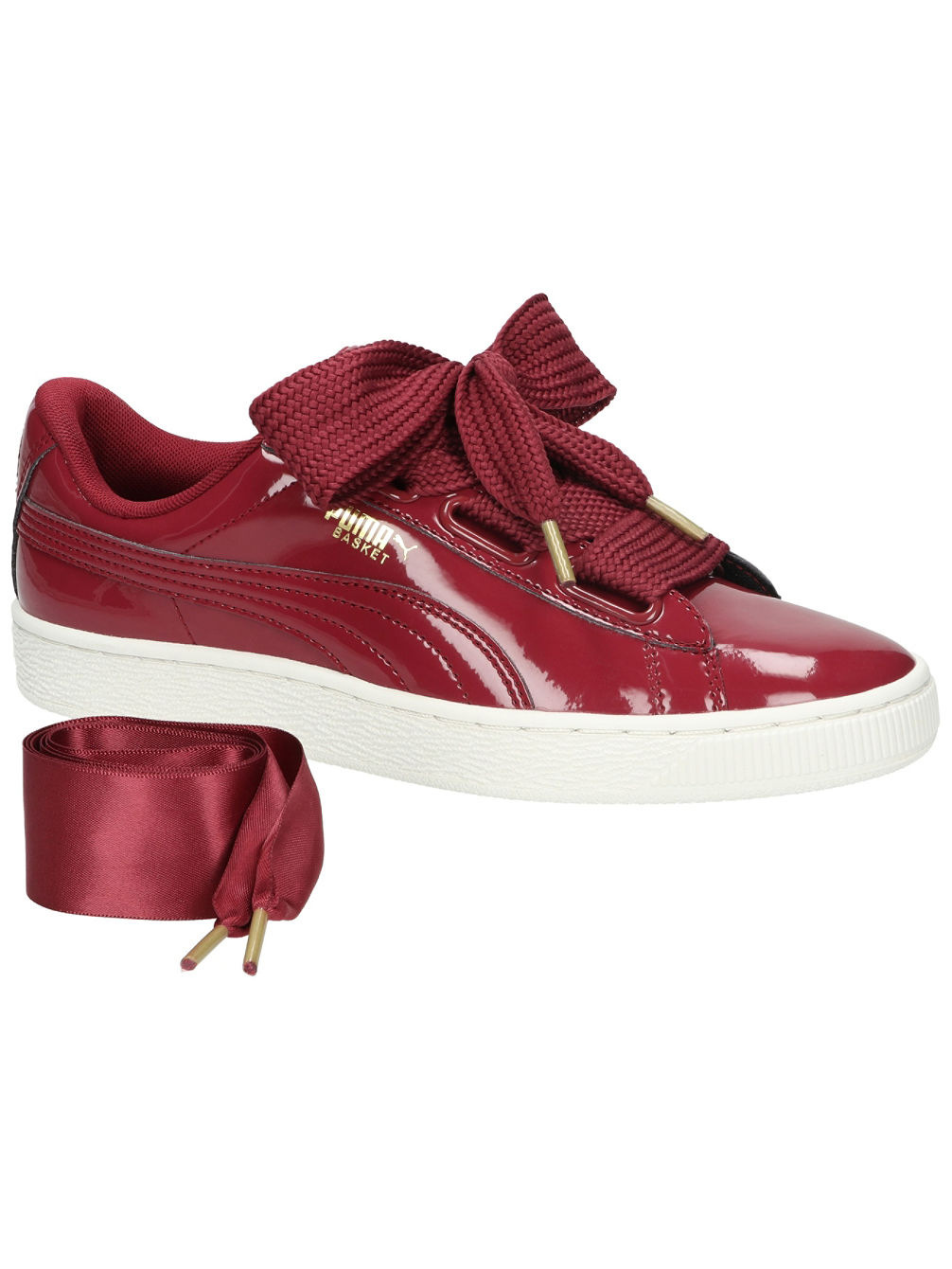 los angeles 4f080 ffa8a Basket Heart Patent Sneakers