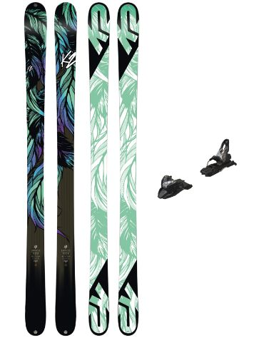 K2 Empress 169 + Free Ten 85mm blk/wht 2018 Conjunto freeski