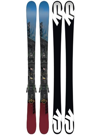 K2 Poacher Jr. 139 + Fdt 7 85mm 2018 Boys Conjunto freeski