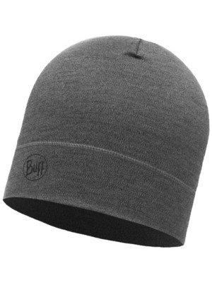 Buff Midweight Merino Wool Beanie light grey melange Gr. Uni