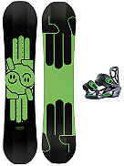 Mini Shred 120 + Mini Shred Bdg 2018 Snowboard Set