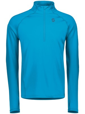 Scott Defined Mid Half Zip Tech Tee LS marine blue Gr. M