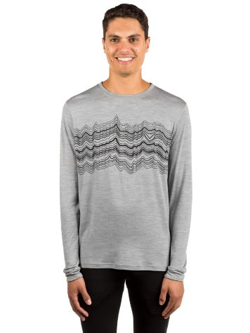 Odlo Natural 100% Merino Warm Print Tech Tee LS L