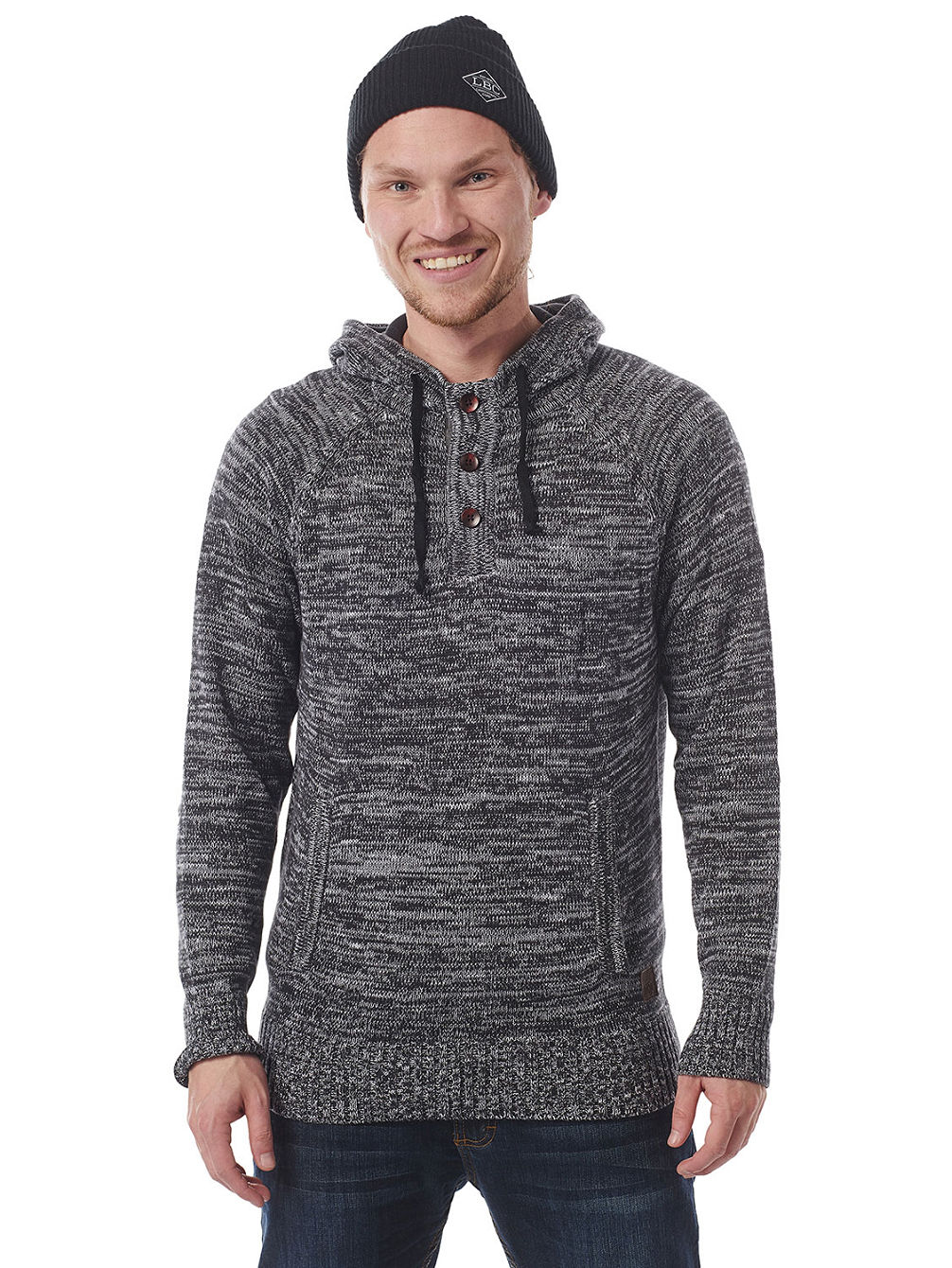 Hooded Knit Trail Pullover