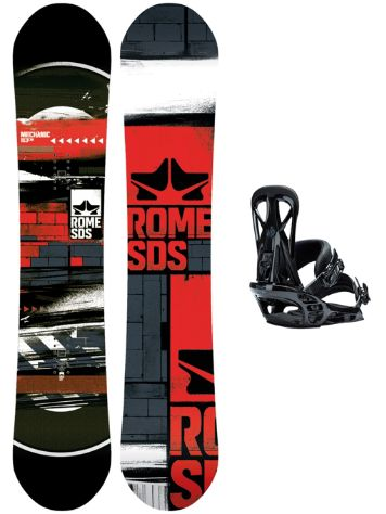 Rome Mechanic 153 + United M Blk 2018 Snowboard set