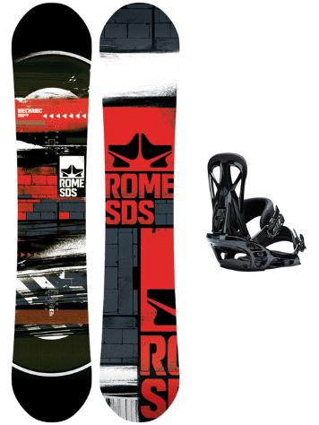 Rome Mechanic 156 + United M Blk 2018 Snowboard Set