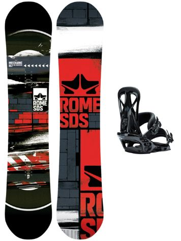 Rome Mechanic 157W + United L Blk 2018 Snowboard Set