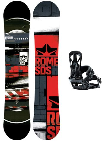 Rome Mechanic 161W + United L Blk 2018 Snowboard set