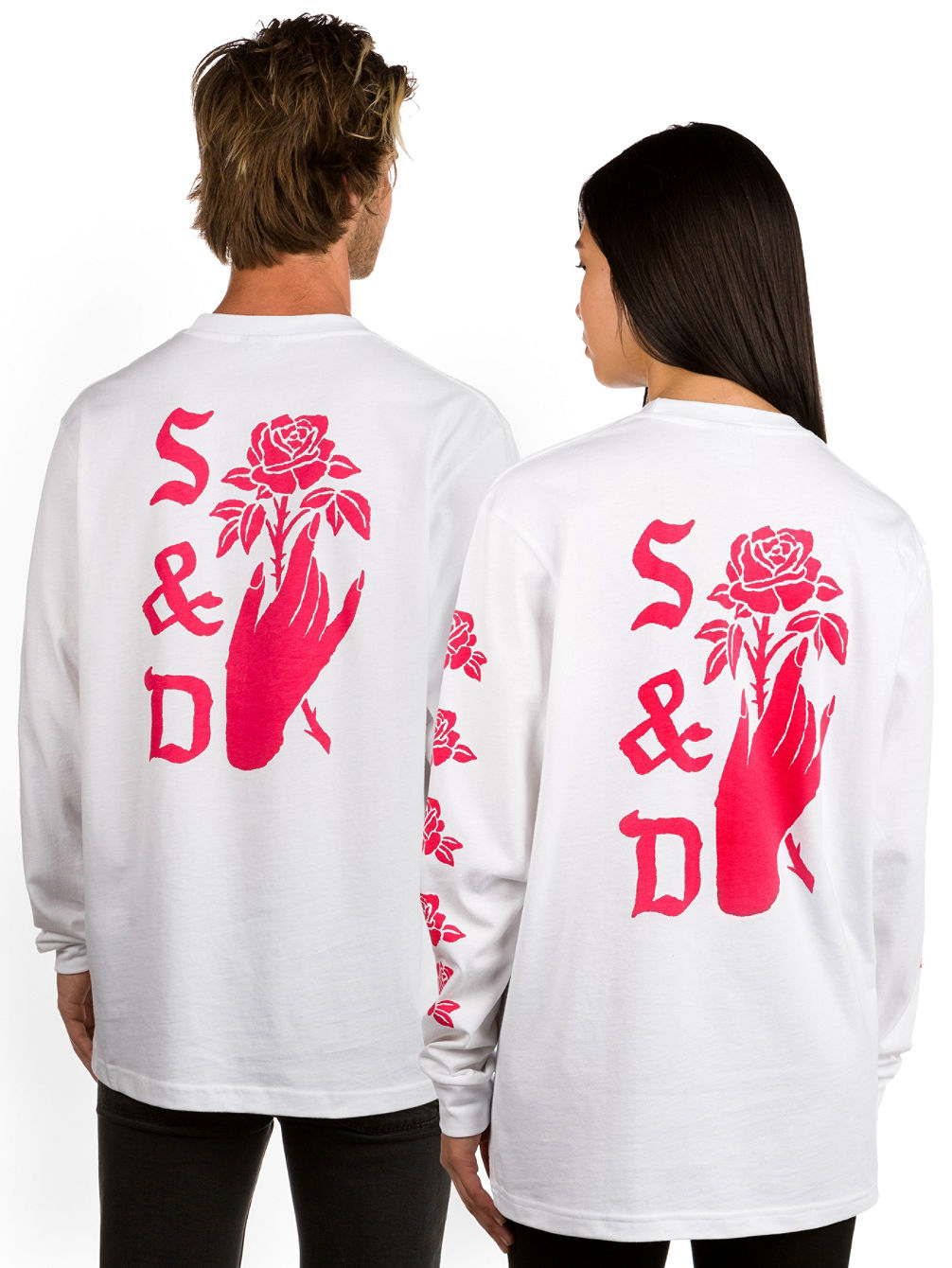 Rose Hand T-Shirt LS