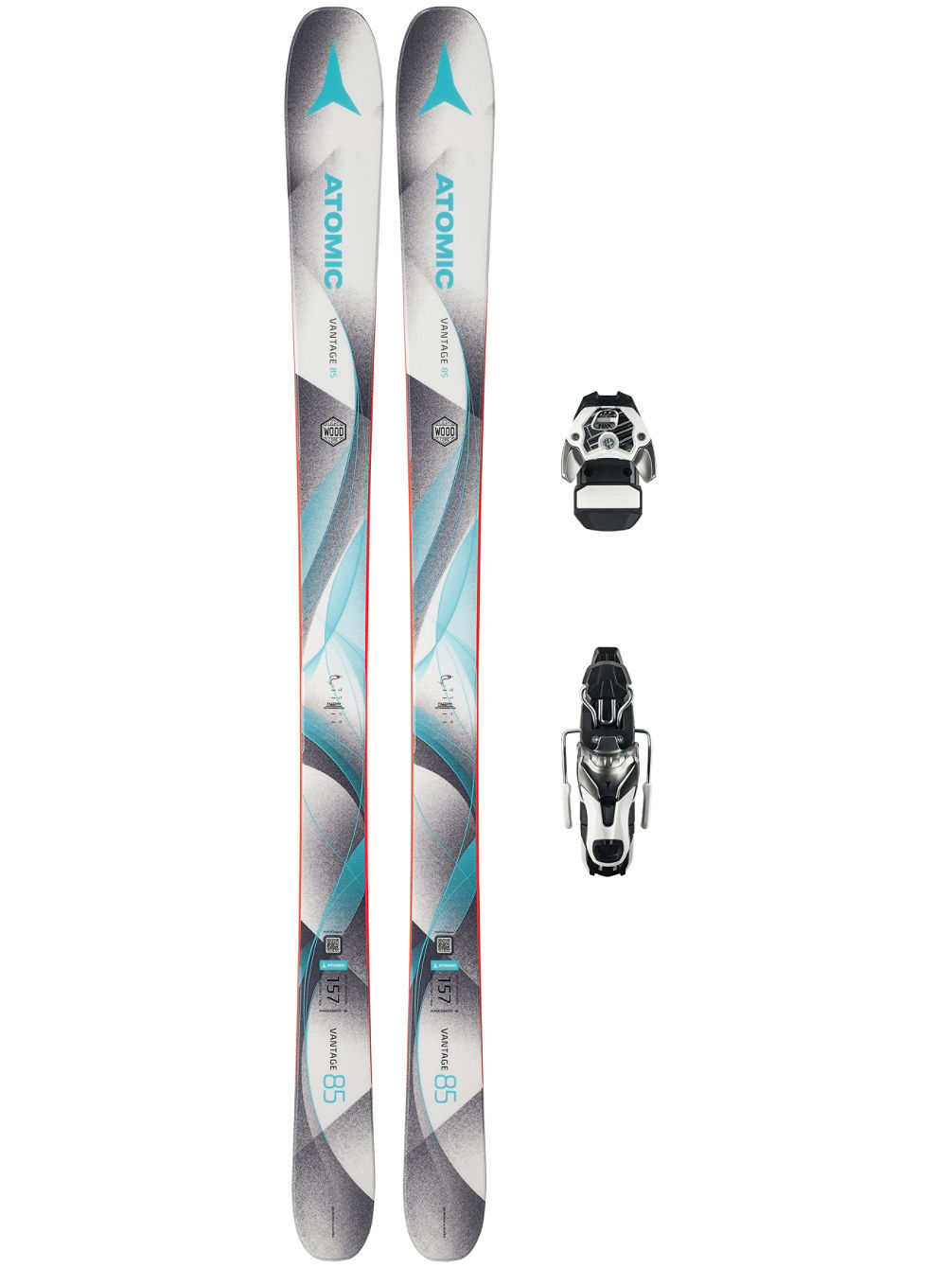 Vantage 85 W 165 + Warden11 90mm 2018 Freeski-Set