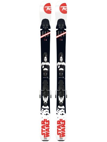 Rossignol Star Wars 128 + Kid-X 4 B76 Blk/Wht 2018 Youth Freeski-Set