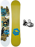 T-Ride Rookie 135 + Pipe Rookie S Blk 2018 Boys Snowboard Set
