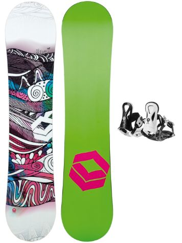 FTWO Gipsy 125 + Pipe Rookie S Blk 2018 Girls Conjunto snowboard