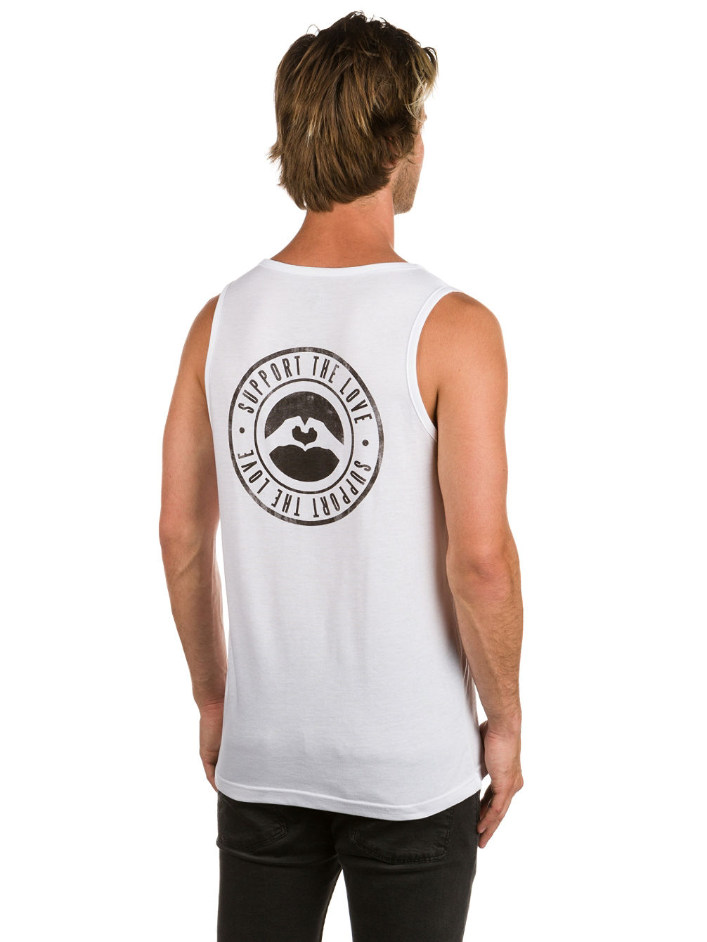 Stamped Logo Hip Tank Top