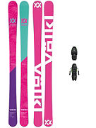 Transfer 148 + Free7.0 85mm Blk 2018 Girls Conjunto freeski