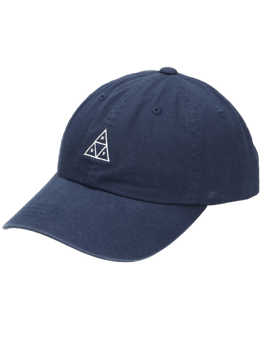 Stone Wash Triple Triangle Curve Visor Cap