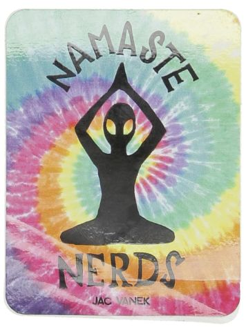 Jac Vanek Namaste Nerds Sticker