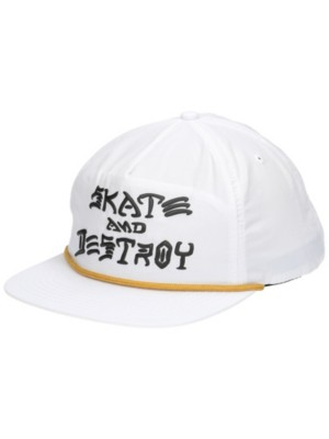 Thrasher Skate & Destory Puff Ink Snapback Cap white Gr. Uni