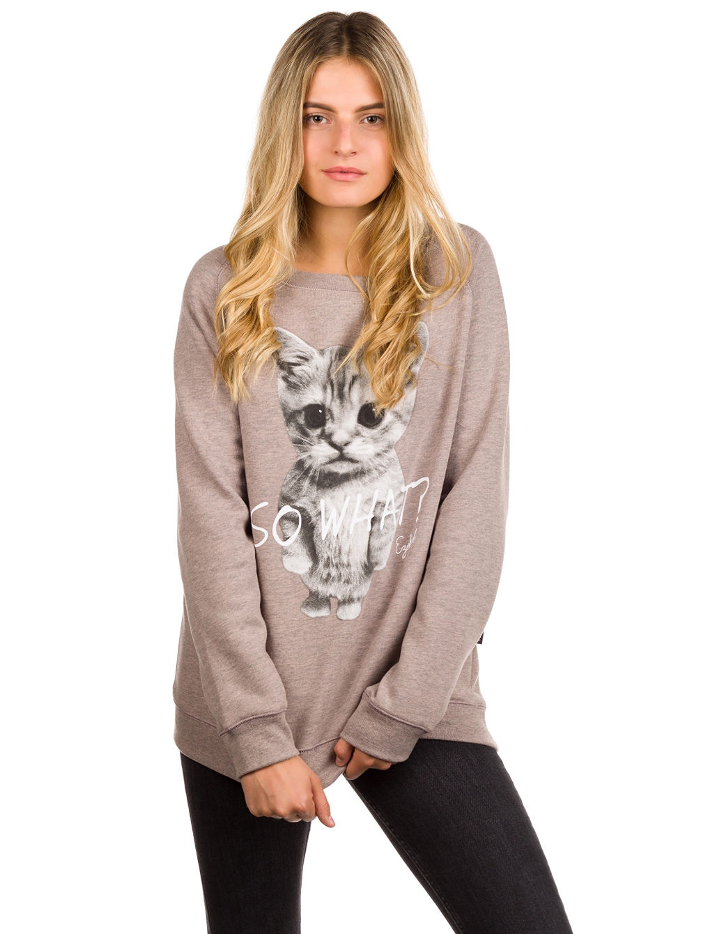 So What Loose Fit Crewneck Sweater