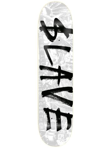 "Slave All Together White Silver 8.625"" Skate Deck"