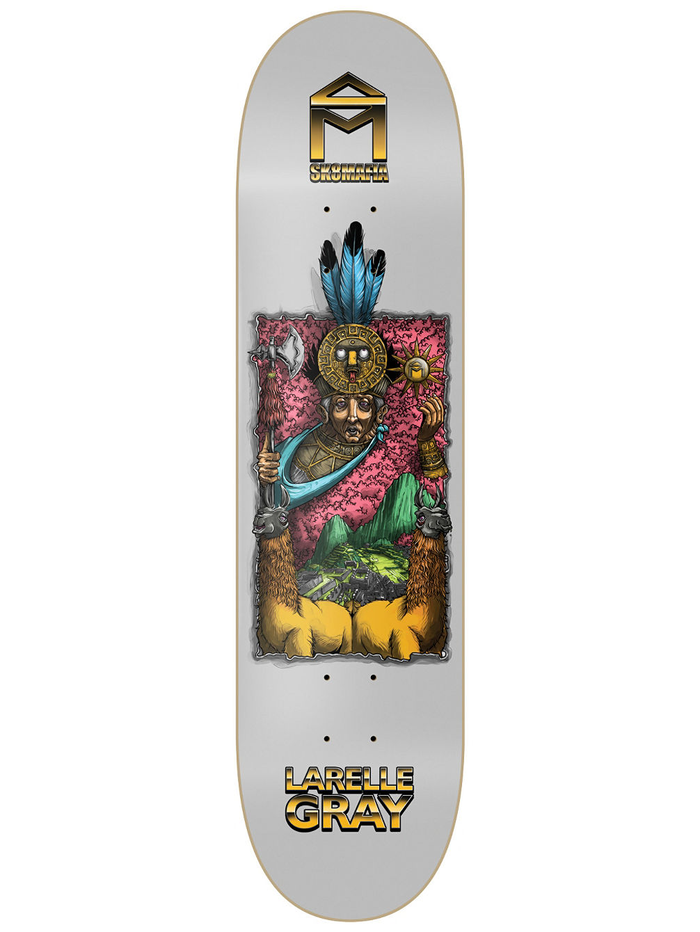 7 Wonders Gray 8.25'' Skate Deck