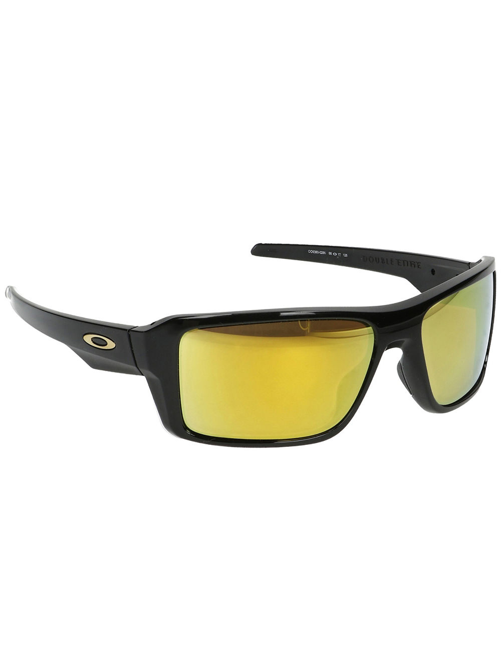 Double Edge Polished Black Sonnenbrille
