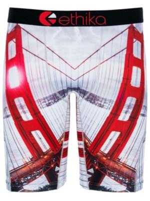 Ethika Golden Gate Boxershorts red / white Gr. S