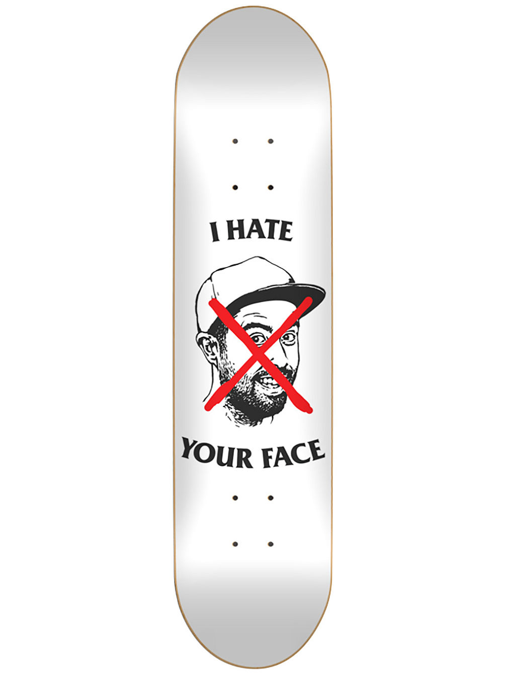 "Staba I Hate Your Face 8.625"" Skate Deck"