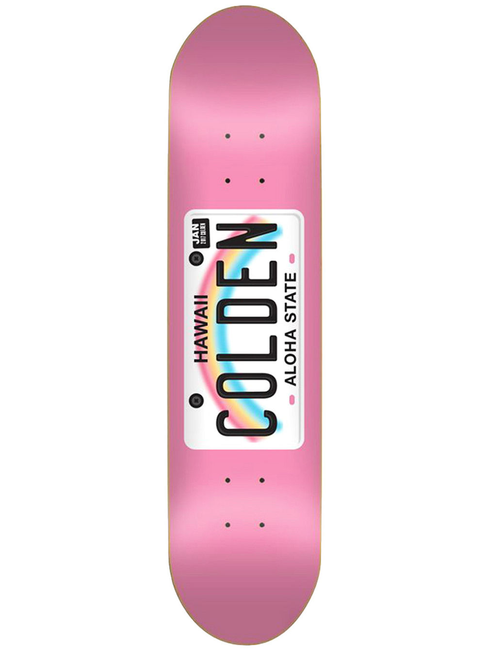 "Colden License Plate 8.0"" Skate Deck"